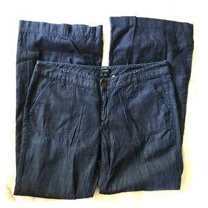 Thin City Fit Dark Wash Wide Leg Jeans by J. Crew